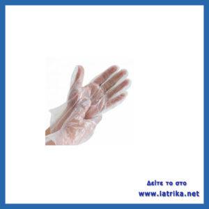 γάντια μιας χρήσης διαφανή