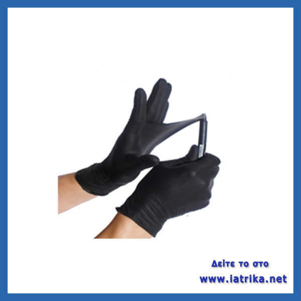 μαύρα γάντια νιτριλιου
