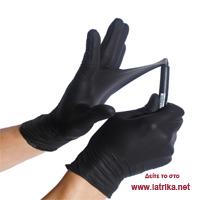 Γάντια νιτριλίου χωρίς πούδρα μαύρα - iatrika.net 917df6e2489