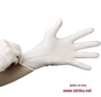 Γάντια νιτριλίου χωρίς πούδρα λευκά (100 τεμ) - iatrika.net d8a9ed944b8